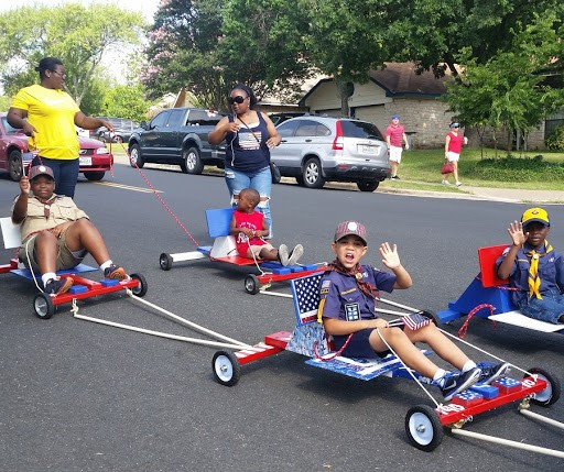 Neighborhood 4th of July parad